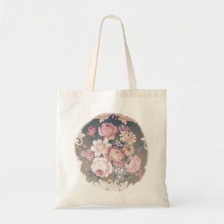 Shaby Vintage of flower SIRAdesign Budget Tote Bag