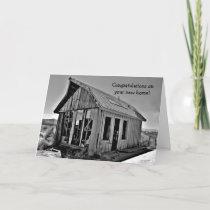 Shack funny new home congratulations card