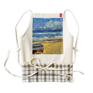 Shack on the beach zazzle HEART apron