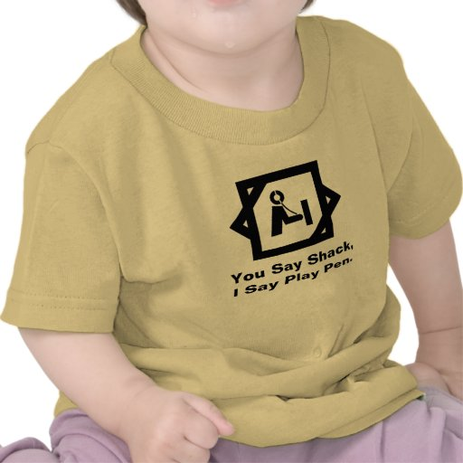 Shack vs. Play Pen  Ham Radio Baby Shirt
