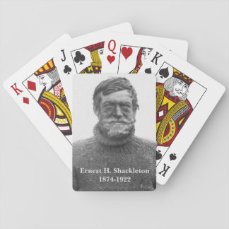 Shackleton in Antarctic Nimrod picture Playing Cards