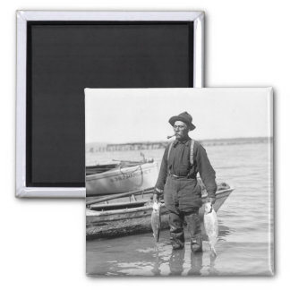 Shad Fishing, early 1900s Magnet