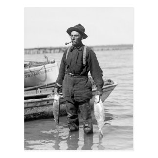 Shad Fishing, early 1900s Post Cards