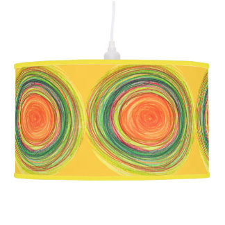 Shade | Abstract Vibrant Sun Drawing Ceiling Lamp