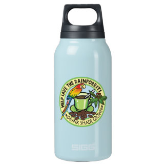 Shade Grown Coffee 10 Oz Insulated SIGG Thermos Water Bottle
