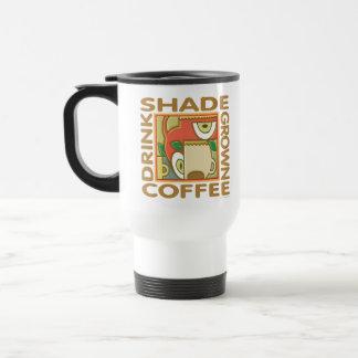 Shade Grown Coffee 15 Oz Stainless Steel Travel Mug