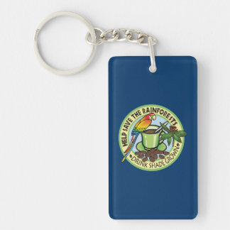 Shade Grown Coffee Single-Sided Rectangular Acrylic Keychain
