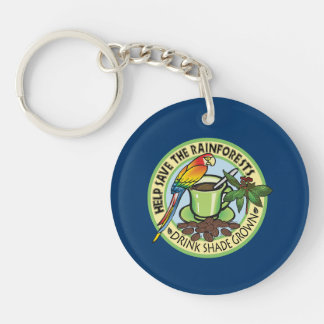 Shade Grown Coffee Single-Sided Round Acrylic Keychain