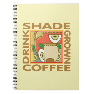 Shade Grown Coffee Spiral Notebooks
