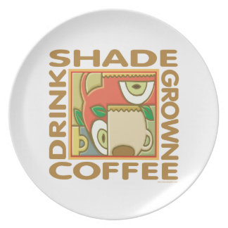 Shade Grown Coffee Party Plate