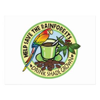Shade Grown Coffee Postcard