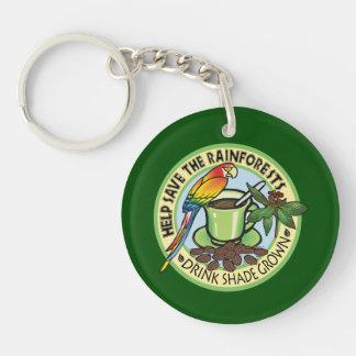 Shade Grown Coffee Single-Sided Round Acrylic Keychain