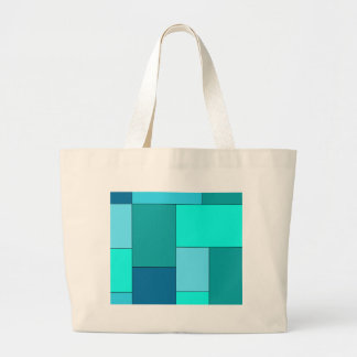 Shade of Blue Color Block Bag