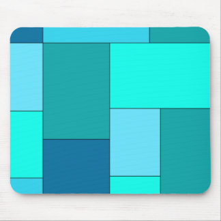 Shade of Blue Color Block Mousepad