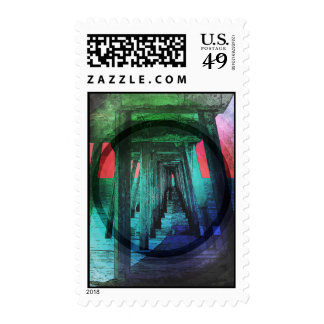 Shade Under Pacific Pier Postage Stamps