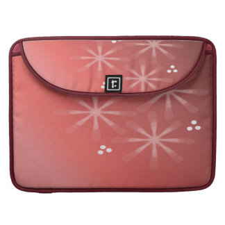 Shaded Coral Star Design Sleeve For MacBook Pro