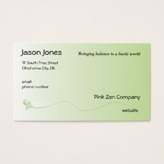 Shaded Green with Fleur de lis line Business Card