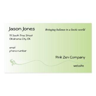 Shaded Green with Fleur de lis line Business Card Templates