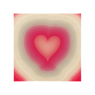 Shaded Layered Heart Design Wood Wall Art