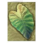 Shaded Leaf Card