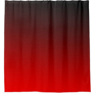 shaded of red shower curtain