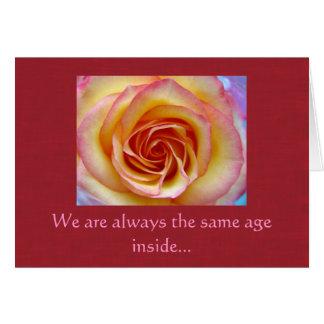 Shaded Rose - Birthday Card