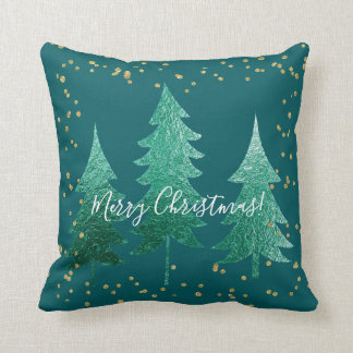 Shaded Spruce Merry Christmas Throw Pillow