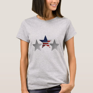 Shaded US Flag Star Design. T-Shirt