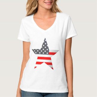 Shaded US Flag Star. T-Shirt