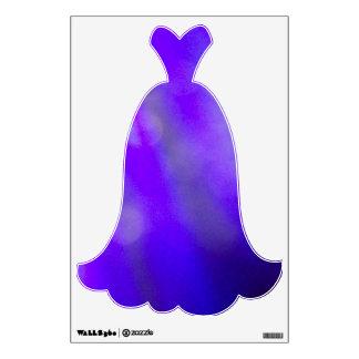 ShadedBlue BallGown Decal#2 - © Roseanne Pears 201 Wall Decal