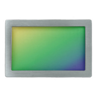 Shades Green Yellow: Add text image greeting Belt Buckle