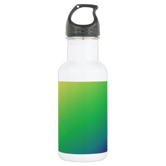 Shades Green Yellow: Add text image greeting Stainless Steel Water Bottle