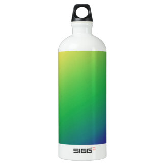 Shades Green Yellow: Add text image greeting Water Bottle