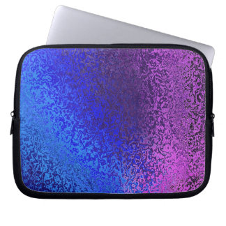 Shades in Blue and Purple Laptop Sleeve