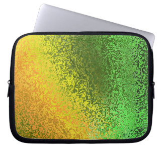 Shades in Green and Yellow Laptop Sleeve