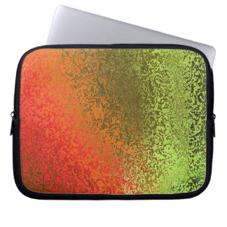 Shades in Orange and Green Laptop Sleeve