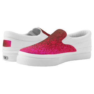 Shades in Purple and Gold Zipz Slip On Shoes Printed Shoes