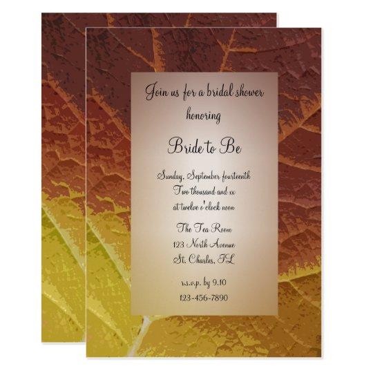 Shades of Autumn Bridal Shower Invitation