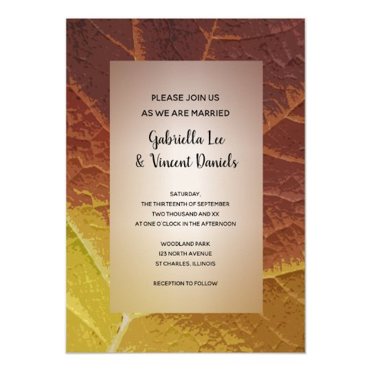 Shades of Autumn Wedding Invitation