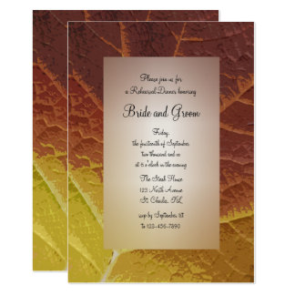 Shades of Autumn Wedding Rehearsal Dinner Invite