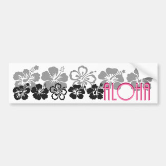 Shades of Black and Gray aloha design Bumper Sticker
