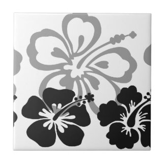 Shades of Black and Gray aloha design Ceramic Tile