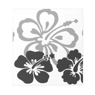 Shades of Black and Gray aloha design Notepads