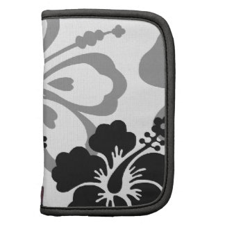 Shades of Black and Gray aloha design Organizers
