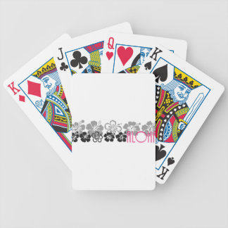 Shades of Black and Gray aloha design Bicycle Poker Cards