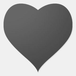 Shades of BLACK Heart Sticker