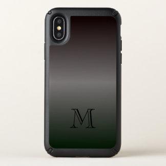 Shades of Black Monogram Speck iPhone X Case