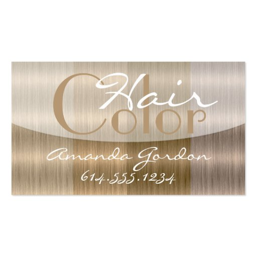 Shades of Blonde 2 Hair Color Style Business Cards