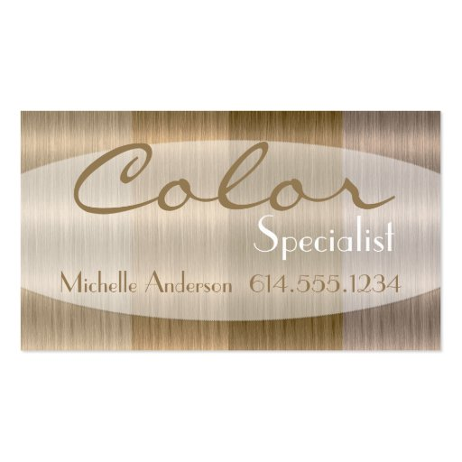 Shades of Blonde 3 Hair Color Style Business Card