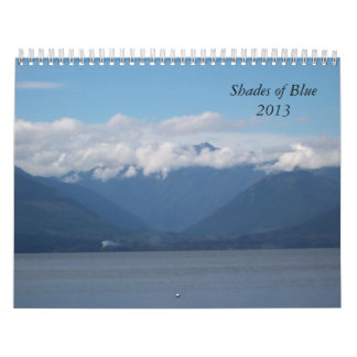 Shades of Blue 2013 Calendar
